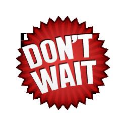 Don't Wait - Burst Badge Red